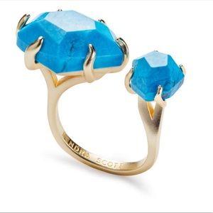 Kendra Scott Kayla Open Ring Turquoise S/M B264